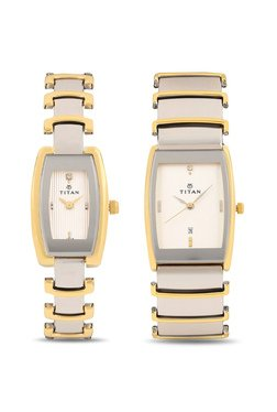 Titan NH13772385BM01 Pair Bandhan Analog Couple Watch