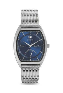 Titan NH1680SM02 Formal Steel Analog Watch For Men