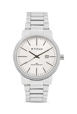 Titan NH9440SM01A Formal Steel Analog Watch For Men