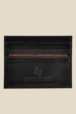 Leather Zentrum Black Leather Card Holder - Mp000000000618058