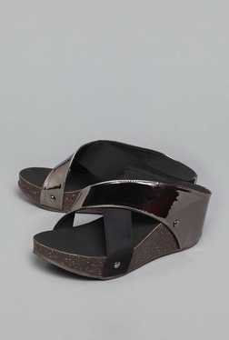 Westside Silver Wedge Sandals