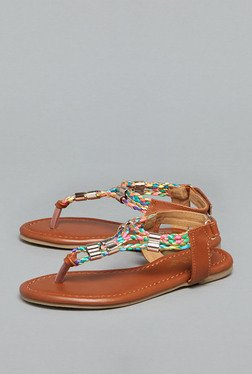 Westside Tan Flat Thong Sandals