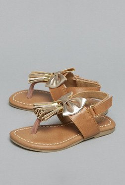 Westside Tan Flat Back Strap Sandals