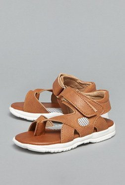 Westside Tan Ankle Strap Sandals