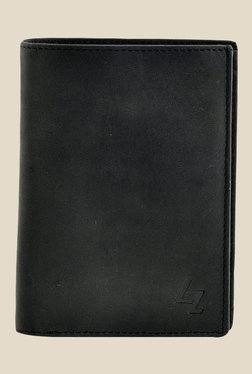Leather Zentrum Black Leather Wallet - Mp000000000618228