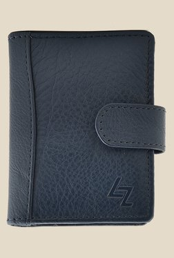 Leather Zentrum Blue Leather Card Holder