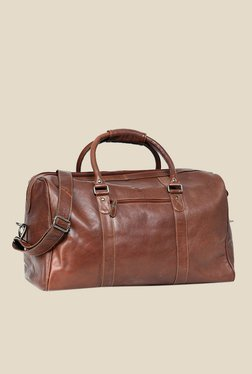 Leather Zentrum Brown Leather Duffle Bag - Mp000000000618463