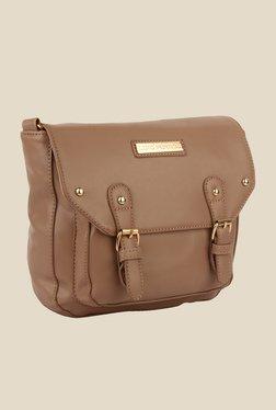 Lino Perros Beige Solid Sling Bag