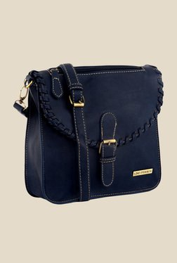 Lino Perros Blue Textured Sling Bag