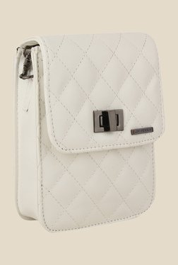 Lino Perros White Textured Sling Bag