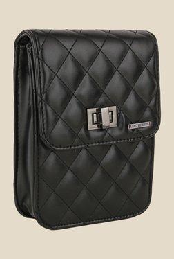 Lino Perros Black Textured Sling Bag