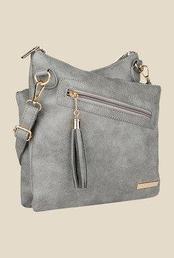 Lino Perros Grey Textured Sling Bag