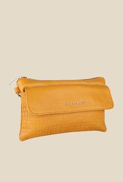 Lino Perros Yellow Textured Sling Bag - Mp000000000619577