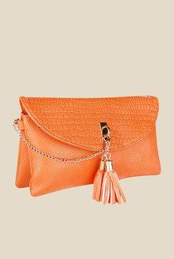 Lino Perros Orange Textured Sling Bag - Mp000000000619580