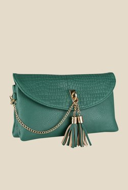 Lino Perros Green Textured Sling Bag - Mp000000000619582