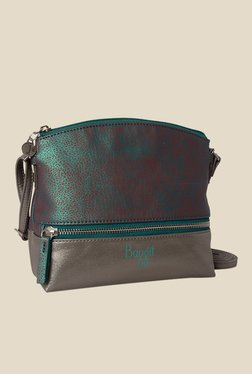 Baggit Waxy Whistle Green Synthetic Sling Bag