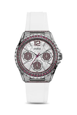 Guess W0032L6 Sparkling Pink Analog Watch For Women