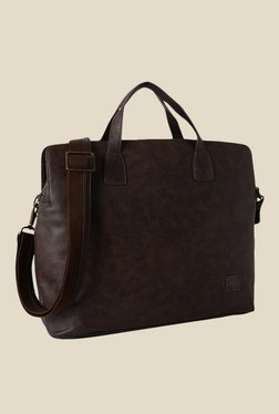 Baggit Tyrion Times Brown Synthetic Messenger Bag