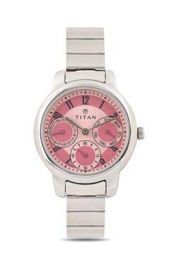 Titan NF2481SM02 Purple Analog Watch For Women