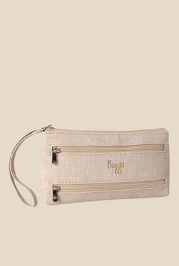Baggit Clyde Charles Off White Synthetic Pouch