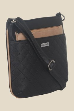 Esbeda Black Synthetic Textured Sling Bag - Mp000000000620828