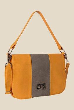 Baggit Muggle Gland Yellow Synthetic Shoulder Bag