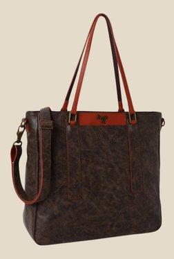 Baggit Fizz Clive Brown Synthetic Shoulder Bag