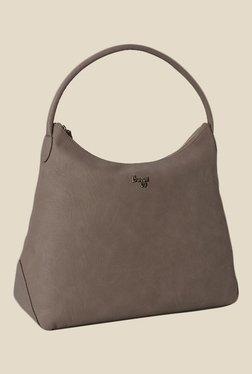 Baggit Hailey Creamy Khaki Synthetic Hobo Bag