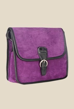 Esbeda Purple Synthetic Solid Sling Bag