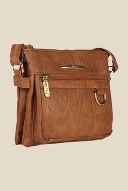 Esbeda Tan Synthetic Textured Sling Bag