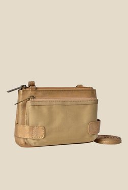 Baggit Wilma Platinum Golden Synthetic Pouch