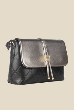 Esbeda Black Synthetic Textured Sling Bag