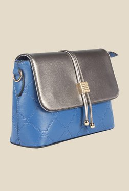 Esbeda Blue Synthetic Textured Sling Bag