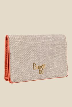 Baggit Charms Charles Off-White Synthetic Card Holder