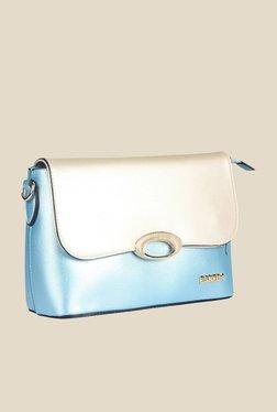 Esbeda Blue Synthetic Solid Sling Bag