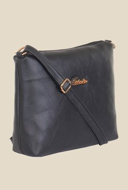 Esbeda Black Synthetic Textured Sling Bag