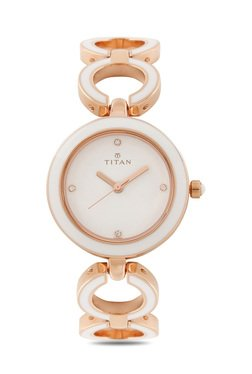 Titan 95036WM02J Enamel Analog Watch For Women