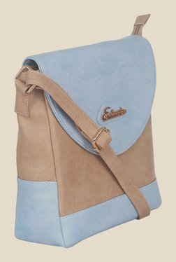 Esbeda Blue Synthetic Textured Sling Bag - Mp000000000621384