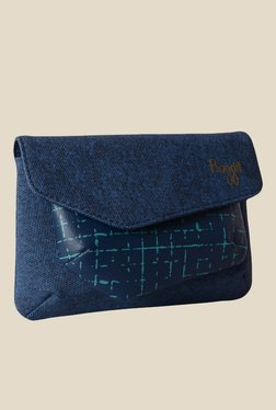 Baggit Buddies Frosty Indigo Synthetic Pouch