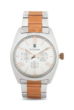Titan NH9476KM01J Formal Steel Analog Watch For Men
