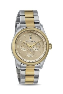 Titan NH9493BM02J Formal Steel Analog Watch For Men