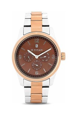 Titan NH9493KM01J Formal Steel Analog Watch For Men
