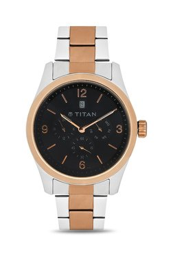 Titan NH9493KM02J Formal Steel Analog Watch For Men