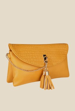 Lino Perros Yellow Textured Sling Bag