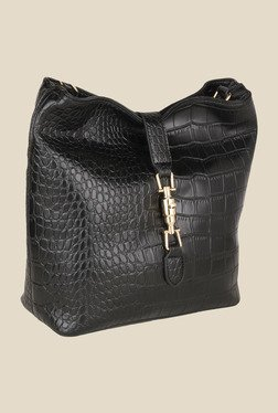 Lino Perros Black Textured Sling Bag - Mp000000000621892