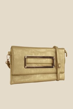 Lino Perros Golden Textured Sling Bag