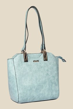 Esbeda Blue Synthetic Textured Shoulder Bag