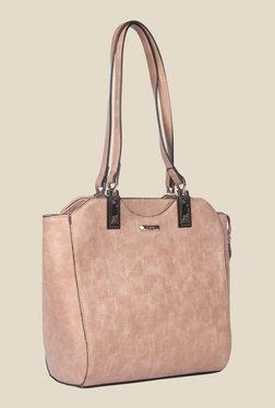 Esbeda Pink Synthetic Textured Shoulder Bag - Mp000000000621959