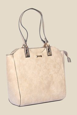 Esbeda Beige Synthetic Textured Shoulder Bag - Mp000000000621976