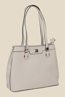 Esbeda Beige Synthetic Textured Shoulder Bag